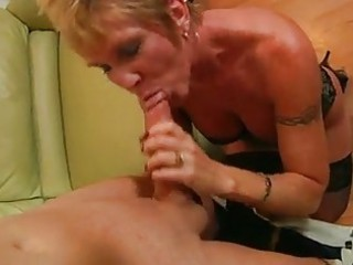 mature granny takes hard pounding