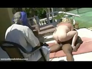aged fat wife acquires screwed by dark bull as