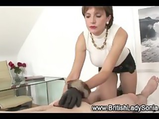 older nylons doxy gloved handjob