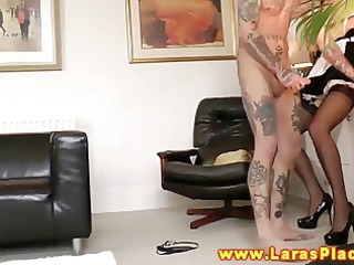 marvelous aged maid acquires drilled