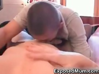 mature welcomes stranger with threesome part9