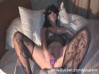 masked wife vs a big sex tool