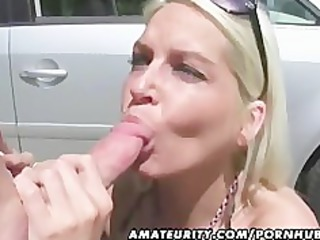 10 sexy amateur bitches in an outdoor group sex