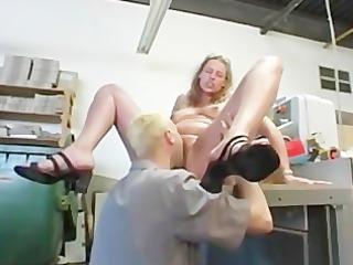 fat blond german older