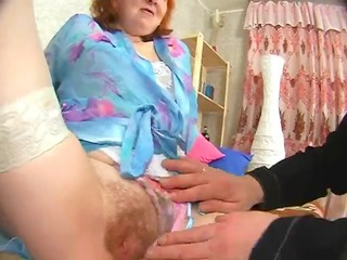russian granny gets her a-hole licked