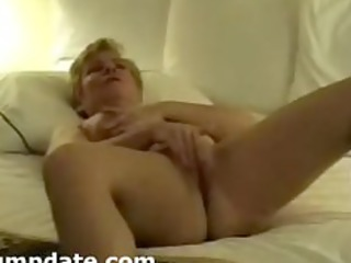 hubby films his mature wife masturbating