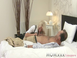 mamma blonde breasty milf has multiple orgasms