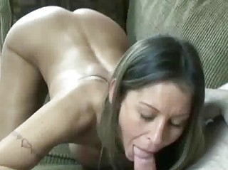 tiny and busty wife leeanna swallows a cock
