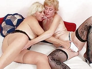 blond milfs giving a kiss licking and