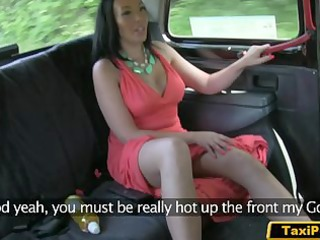 slut wife sex with fake taxi driver