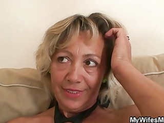 hot mother in law assents to engulf his lustful