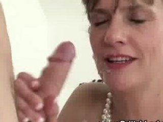 excited aged lady sonia receives a cumshot