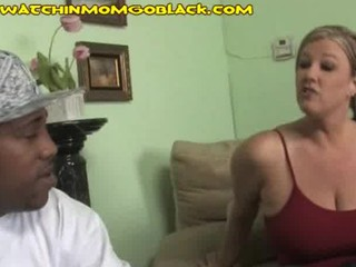 chubby black pole for a hawt blond mom