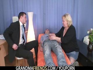 blond grandma gets slammed by weenies