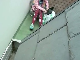 spy neighbors wife roof