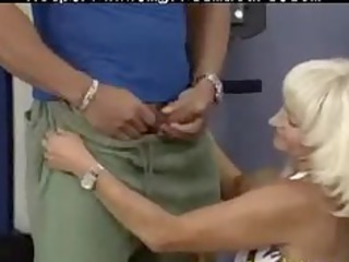 eager old mommy gets drilled hard in her pierced