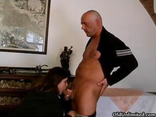 bulky brunette hair aged lady can sucking part8