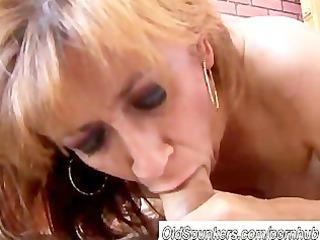 nice-looking ginger cougar enjoys a hard fuck