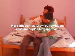 ryssian mamma and boy fucking on bed