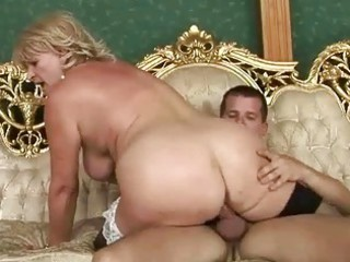 classy breasty grandma receives drilled hard