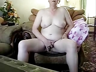 older lady totally nude masturbating