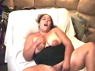 bbw latin chick wife masturbating with egg vibe