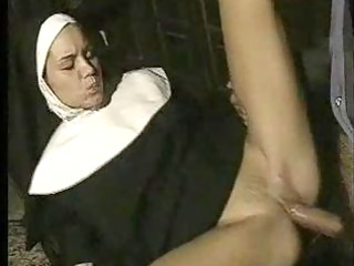 horny nun gives in to temptation