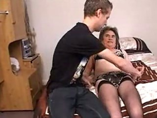lad fucking lustful granny