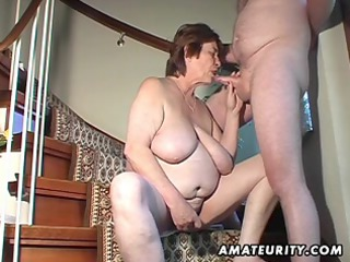 bulky dilettante wife toys and sucks and acquires