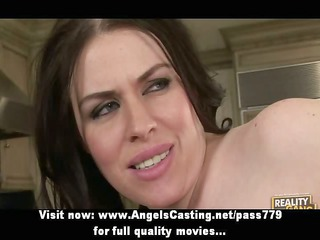 breasty dark brown milf does oral and is drilled