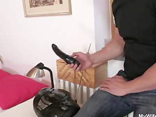son in law bangs his gf's old mother