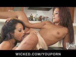busty oriental butt fucks japanese lesbo wife