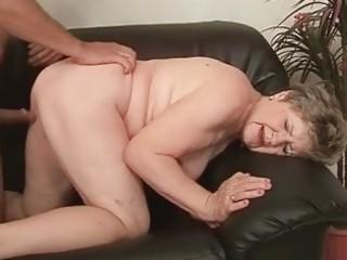 chubby grandma enjoying naughty sex