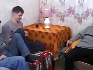 real russian mom copulates her sons allies