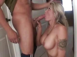 milf sucks penis in advance of bubble pleasure