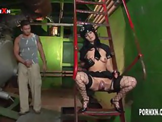 sandra darksome anal and face fucking with a