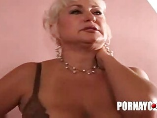 old overweight milf gives oral-stimulation and