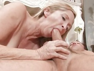 sex hungry granny bonks stud