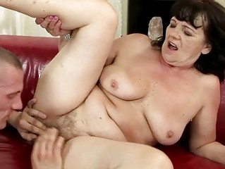 chubby grandma getting drilled hard