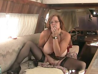 solo #3 (older redhead with big tits)