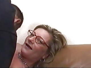 blonde mother i with glasses drilled hard and