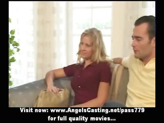 amateur pleasant golden-haired bride nice talking
