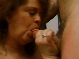 fat older redhead sucks large shlong