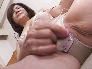 masturbating japanese gran part7