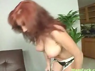 nice-looking redhead mommy shows a-hole daughter