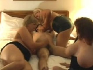 busty older cougars foursome
