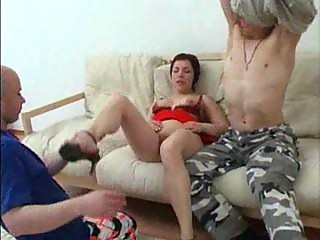 mommy has anal sex with her son and his friend