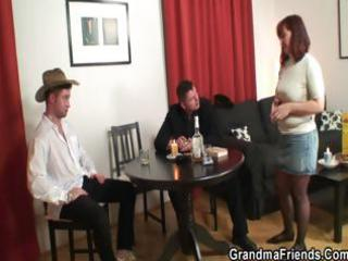 poker playing granny is screwed by two chaps