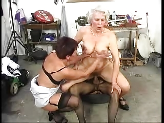 hirsute old grannys have joy with a penis