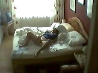 hidden web camera on the closet caught mom